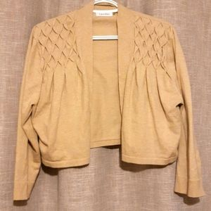 CALVIN KLEIN Tan Shrug XL